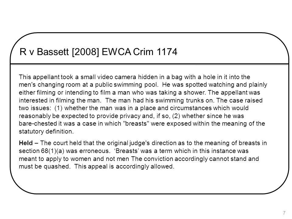 R v Bassett [2008] EWCA Crim 1174